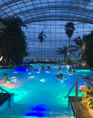 Therme at night