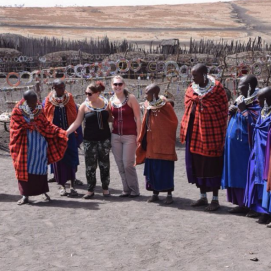 Visiting a Masai village